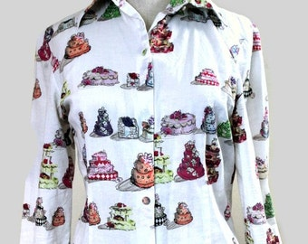 ON SALE DESIGNER Cynthia Rowley Cakes Button Up Shirt