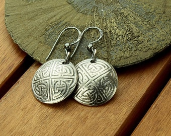 Celtic earrings | celtic knot earrings | celtic silver earrings | silver dangle earrings | celtic jewelry | 1.5"