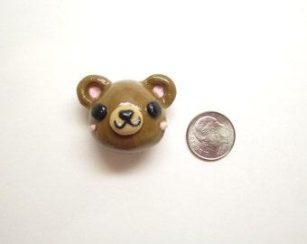 Cute Bear Magnet, Kawaii Teddy Bear Magnet, Polymer Clay Bear, Charm, Cute Animals, Refrigerator Magnet, Rilakkuma, Magnetic, Keychain