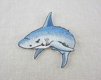 Iron-On Patches, Shark Patch, Fish Patch