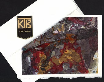 KTB Marbled Card (Red+)