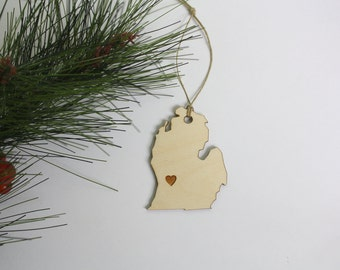 West Michigan Ornament // Michigan Tag // Grand Rapids Tag // Made in Michigan // Christmas Gifts Under 5