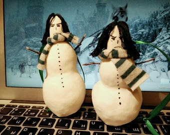 Light Snape Snowman decoration for a Cristmas-tree in Hogwarts.