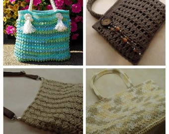 AWESOME DEAL! 4 Crochet Handbag Patterns Digital Download Only