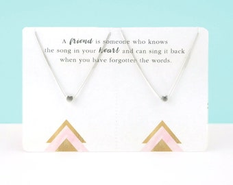 Heart Necklace Set   Gold or Silver   Friendship Jewelry   Mother Daughter Sister Gift   Best Friend Gift   Matching Necklace Gift   Mom
