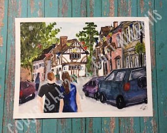 Summer in Warwick - Original Watercolour and Ink Painting by Cori Nicholls