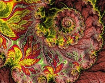 Secret Garden fractal art print - archival lustre print - beautiful fractal garden print - contemporary wall art for home or office