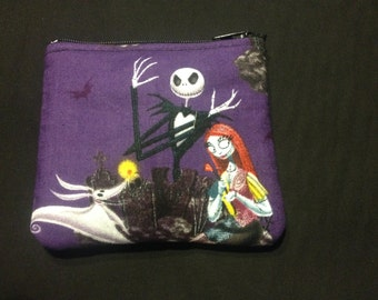 Nightmare Before Christmas Jack Skellington, Sally, and Zero Coin Purse #123