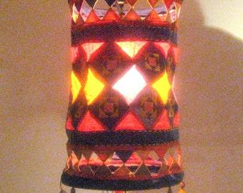 Vintage Asian Lamp Shade/ Hand Made Lamp Shade/Lamp cover / Living room decor / Shabby chic lamp shade /Fabric lamp shade