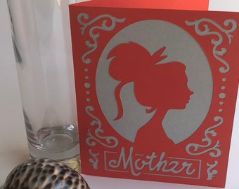 Card for mom, mothers day card, mom birthday card, mom card, gift for mom, card for mother, handmade card