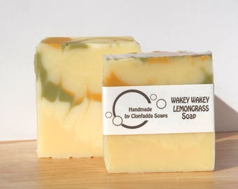 Handcrafted Wakey Wakey Lemongrass Soap - Paraben Free - SLS Free - Palm Free - Vegan Friendly