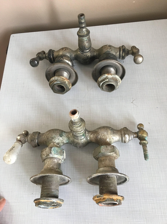 Antique Tub Faucet Parts for Repurpose or Repair
