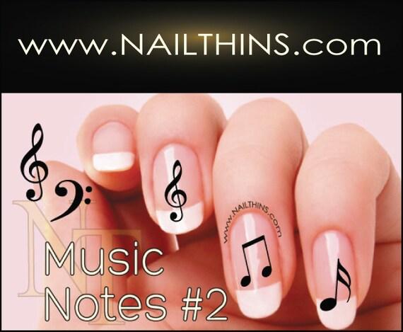 - No 2 Music Note Nail Decal Musical Notes Nail Design NAILTHINS