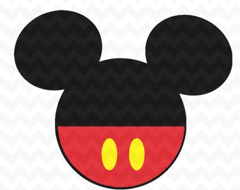 Mickey Mouse Head SVG, Layered Mickey Mouse SVG and PNG Download for cricut and silhouette