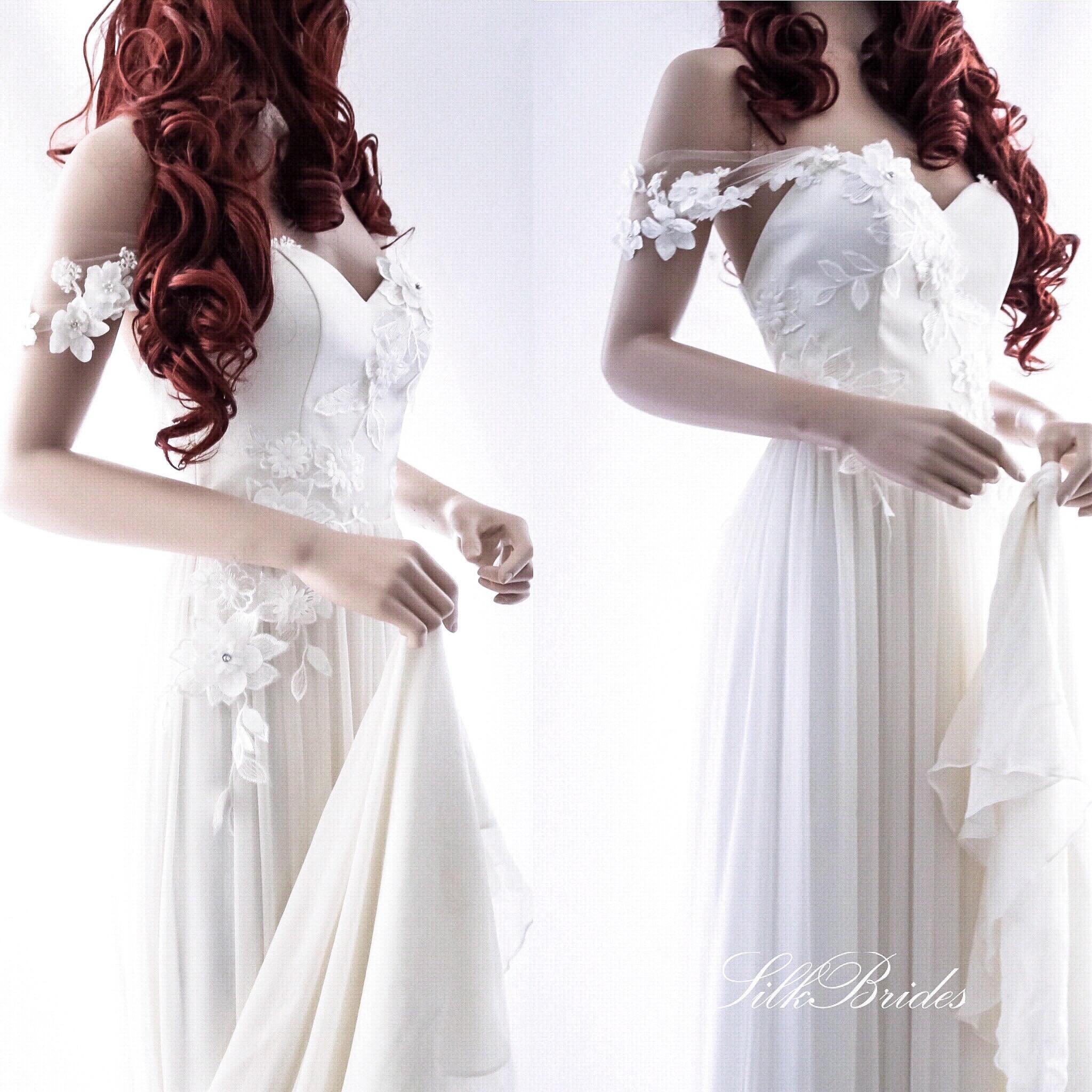 Böhmische Brautkleid / einzigartige Strandhochzeit Kleid /