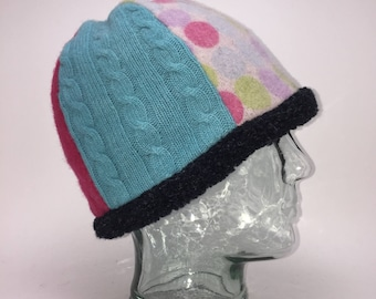 Baabaazuzu Upcycled Wool Felted Women's Beanie Hat