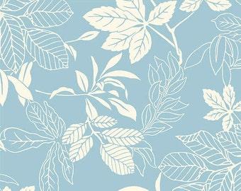 FloriLogic - Leaf Silhouette Blue from Studio E