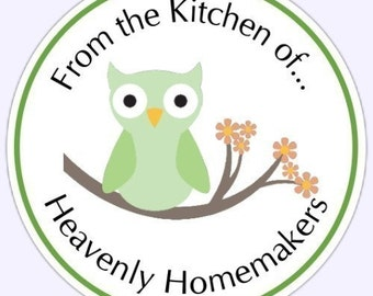 Kitchen Stickers, Canning Labels, From the Kitchen Stickers - Personalized for YOU