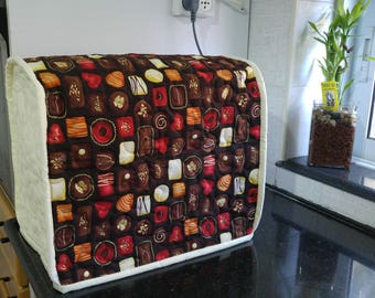 Mixer cover, kenwood mixer cover, baking mixer cover, housewarming gift, Kitchen Appliance Cover, Quilted mixer cover,  Chocolate Pralines