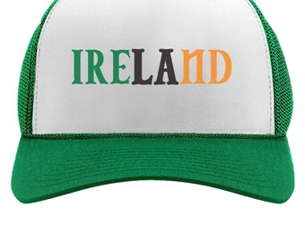 Ireland Flag Tricolor St.Patrick's Day Trucker Hat Mesh Cap
