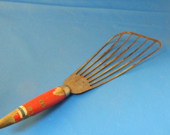 Red Handled Batter Beater, Antique