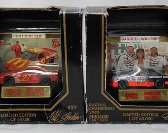 Darrell Waltrip/Hut Stricklin  Racing Champions 1992-93 Premier Edition Diecast