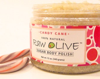 Candy Cane Organic Sugar Body Polish