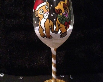 Lion King Wine Glass