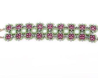 Tutorial Moroccan Squares Bracelet. Beading Pattern. PDF!