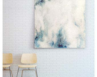 Original large abstract painting. Acrylic and mixed media on canvas. Decorative textured abstract picture.