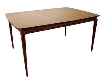 Mid-Century Danish Modern Walnut Extendable Dining Table
