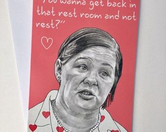 Melissa McCarthy/Bridesmaids A5 Valentines Card