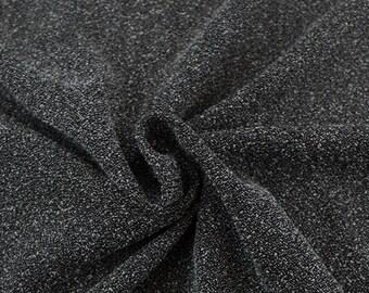 Black White Micro Boucle Twill Fabric - 1 Yard Style 3000