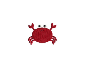 Mini Crab Machine Embroidery Design-INSTANT DOWNLOAD