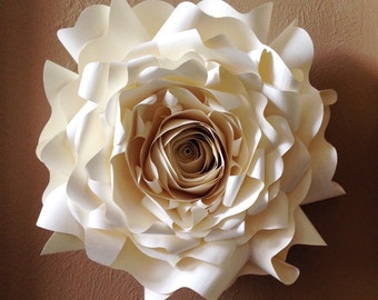 Giant Paper Wall Flower, Wall Decor, Wedding Decor, Party Decor, Event Decor, Home Decor