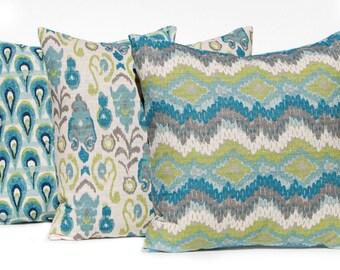 Teal Pillow Cover - 12 x 16 - Throw Pillow Cover - Decorative Pillow - Chair Pillow - Turquoise Pillow Covers - Sofa Pillows