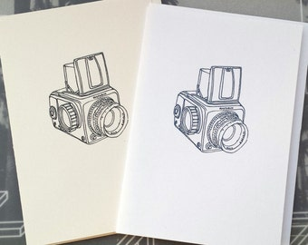 Camera (Hasselblad) Illustration Note Card