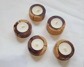 Artisan Cedar Candlesticks