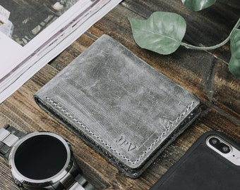 Minimalist Wallet, Classic Billfold Wallet, Distressed Leather Wallet, Cash Wallet, Mens Leather Wallet, Father's Day Gift - Bureau Rock