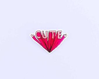 Cute Acrylic Pin - Shrinky Dink - Kawaii Pin - Tumblr Pin - Harajuku Pin - Rave Jacket - Jacket Pin - Cute Pin - Feminist Pin - Punk Jacket