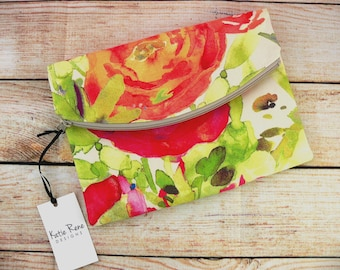 Clutch Bag, Spring Clutch, Floral Clutch, Easter Purse, Floral Purse, Clutch Purse, Foldover Clutch, Mother's Day Gift, Gifts for Her