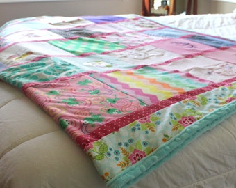 Extra Large Custom Baby Clothes Quilt - Memory Blanket - Memory Quilt - Baby Blanket