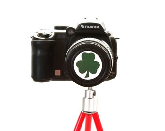 Shamrock camera lens cap for Canon, Nikon, Fuji, Sony etc. DSLR, Photography gift, photographers gift. Free shipping in North America.