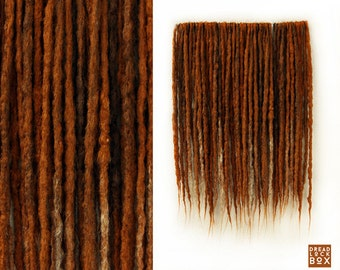 Ginger Synthetic Dreadlocks | Crocheted Synthetic Dreads | DE SE | Pieces 10-100 |  Ginger Ombre | Red