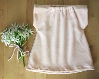 DOLL CLOTHES  || cotton velour gown, waldorf doll dress, peach