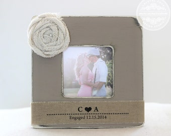 Personalized Engagement Picture Frame, Engagement Gift, Engagement Frame, Gift for Couple, Engagement Party