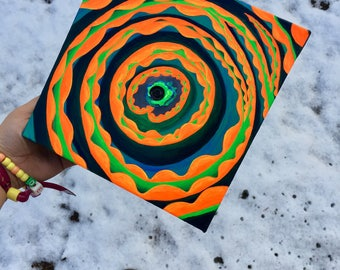 UV Reactive Acrylic Painting- Spiraling