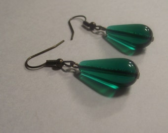 Emerald City Tear Drop Earrings