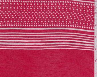 Paprika Red Stripe T Shirt Jersey Knit, Fabric By The Yard