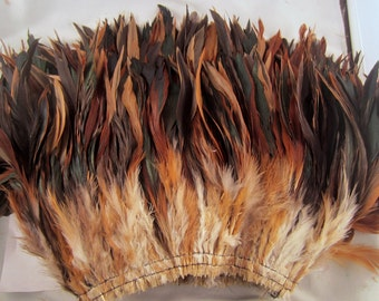 30 Natural half bronze loose Schlappen half bronze 7 to 9 inches  year of the rooster craft feathers saddle feathers